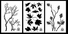"3Pack! Spray Paint Camouflage Stencils 14"" Gnarly Branch - Maple - Oak Branch"