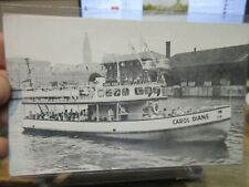 Vintage Old OHIO Postcard Cleveland Flats Carol Diane River Boat Cruise Outings