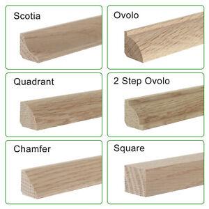 Solid Oak Floor Beading  I  2.4m  I  Corner Edge Bead  I  15mm, 19mm, 22mm
