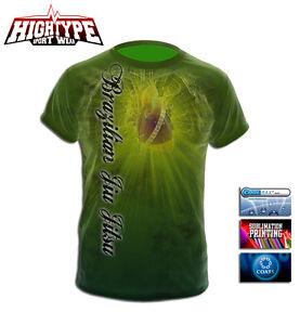 HighType Brazilian JiuJitsu Active T-Shirt Coolmax MMA BJJ Training