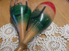COLORFUL WOODEN MARACAS, PERCUSSION INSTRUMENTS
