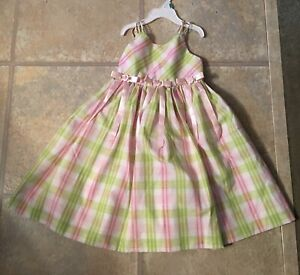 Bonnie Jean Girl's Size 4 Gorgeous Mint & Pink Sleeveless Lined Party Dress