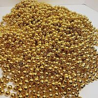 76 Feet Small Gold Metallic Bead Garland 1/4 Inches Diameter
