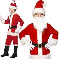 Ragazzi Vestito Natale Bambini Lusso Babbo Natale Costume Abito da Smiffys