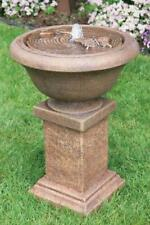 "29"" Chesire Fountain with Butterflies - Outdoor Concrete Garden Water Fountain"