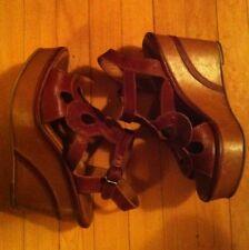 Fiorentini + Baker Rust Lattice Leather Wedges ~ Size 38 = US 8 Retail 550+