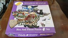 Bits & Pieces 765pc Shaped Puzzle Kathy Jakobsen 2003 Witch Way to Halloween