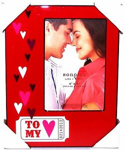 """NEW Sonoma TO MY HEART Love Ticket 4""""X6"""" Picture Photo FRAME VALENTINES DAY Love"""