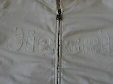 DIESEL INDUSTRY BRAND WOMENS WHITE TRACK JACKET SWEATSHIRT SIZE SMALL PREOWNED
