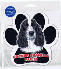 Cocker Spaniel Rules Waterproof Bumper Sticker Magnet