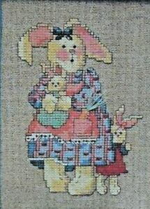 """Dimensions Cross Stitch Instructions 6555  """"Bunny and Babies""""  5"""" x 7"""""""