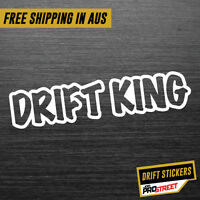 DRIFT KING JDM CAR STICKER DECAL Drift Turbo Euro Fast Vinyl #0139