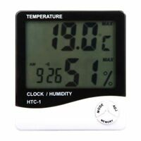 Hydroponics Digital Thermometer Humidity Meter Grow Room LCD Hygrometer