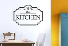 Classic Our Kitchen Schild Vinilo Pegatinas De Pared Adhesivo Decoración