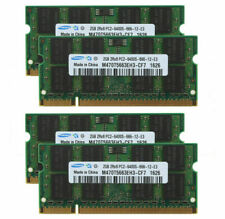 For Samsung 8GB 4x2GB 2Rx8 PC2-6400 DDR2 800Mhz 200pin SO-DIMM Laptop Memory RAM
