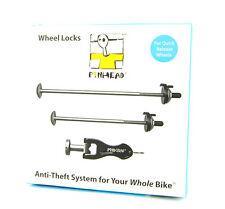 New Pinhead Locking Quick-Release Bicycle Wheel Skewers Lock PH-110, 2 Pack