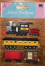 Jolees Train Engine Car Boys Toy Transport Vehicle Railroad Scrapbook Stickers