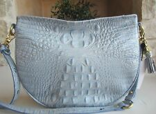 Brahmin Cross body Kathleen Hobo Purse Melbourne Chambray blue Zip top Bag M nwt