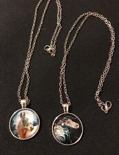 Pick Your Fave Necklace Horse Cabochon Glass Tibet Silver Chain US Seller