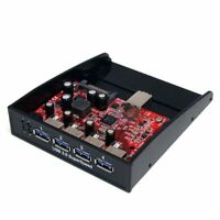 StarTech.com USB 3.0 Front Panel 4 Port Hub - 3.5 5.25in Bay - 4 x 9-pin Type A