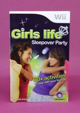 INSTRUCTION BOOKLET FOR GIRLS LIFE SLEEPOVER PARTY Wii (NO GAME) 😎OZ SELLER😎