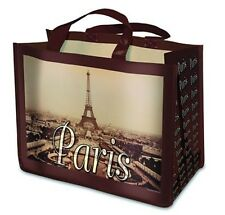 """Reusable Shopping Bag - """"Paris"""", Vintage French Image with the Eiffel Tower"""