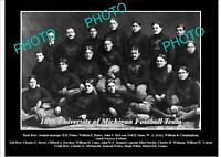 OLD LARGE HISTORIC PHOTO OF UNIVERSITY OF MICHIGAN FOOTBALL TEAM 1898
