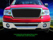 For 04-05 Ford F-150 F150 Stainless Steel Black Mesh Grille Grill Insert Fedar