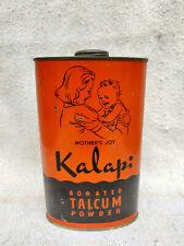 1930s Vintage Mother Joy Kalapi Allwyns Talcum Powder Advertising Litho Tin Box