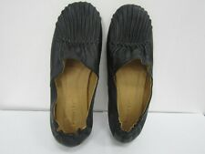 Chocolat Blu Leather Upper Black Ballet Flats Size 9.5 M