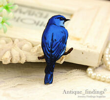 4pcs Bird Handmade Wood Wooden Charms Pendants HW082Q