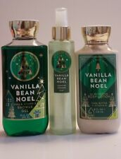 NEW! Bath & Body Works Vanilla Bean NOEL Shower Gel Lotion Spray Set Full