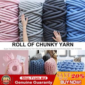 Super Soft Chunky Wool Gaint Yarn DIY Bulky Arm Knitting Roving Crocheting Mat
