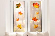 Hochwertige Fenstersticker Herbstblätter Herbst Fensterbilder Fensterfolie Deko