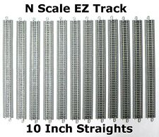 """N Scale Model Railroad Trains Layout Bachmann EZ Track 12 Pieces of 10"""" Straight"""