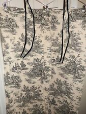 Waverly Garden Room WELLINGTON Country Toile Tailored Panel Pair Tiebacks