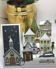 handmade Card Kit Stampin' Up! Christmas House Village Step Card