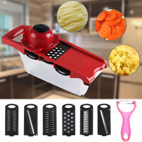 Pro Mandolin  Slicer Food Cutter Fruit Vegetable Chopper Grater Peeler w/6 Blade