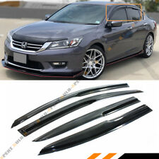 FOR 2013-17 9TH GEN HONDA ACCORD 4 DOOR SEDAN WAVY STYLE SMOKE WINDOW SUN VISOR