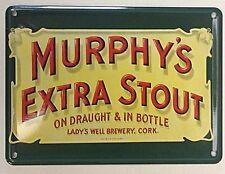 Murphy's Extra Stout miniature metal sign / postcard  110mm x 80mm (hi)