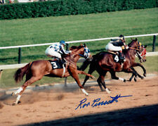 SECRETARIAT - RON TURCOTTE SIGNED 8X10 PREAKNESS STAKES HORSE RACING PHOTO!