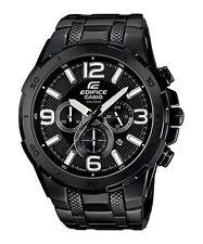 NWT CASIO Edifice Chronograph 100M Black IP Watch EFR-538BK-1AV