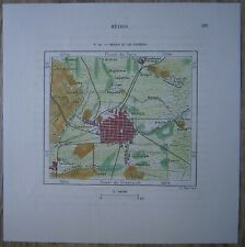 1891 Perron map MEXICO CITY AND VICINITY (#40)