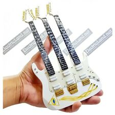 Mini Guitar scale 1:4 STEVE VAI triple neck jem7 miniature gadget collectible