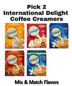 Pick 2 International Delight Coffee Creamer 24 Ct Each Boxes Mix & Match Flavors