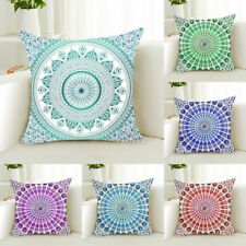 Geometric Mandala Throw Pillow Case Polyester Sofa Cushion Cover Home Decor Chic