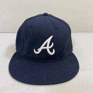 Atlanta Braves New Era Flat Cap Dark Blue 7 5/8