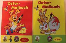 2x Oster-Malbuch Kinder Malheft Ostern / Hase / Ei / Farbe Spiel und Spaß *NEU*