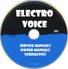 Electro-Voice EV Service Manuals & Schematics PDFs on DVD Ultimate Collection