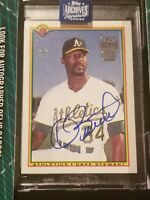 Dave Stewart 2020 Topps Archives Signature 1990 Bowman  Auto #5/6 Athletics A's